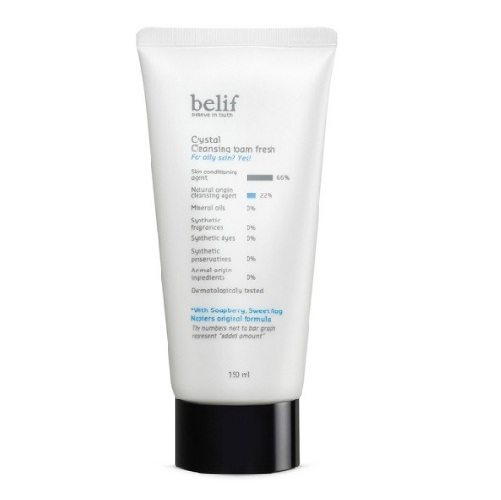 Belif Crystal Cleansing Foam Fresh 150ml korean cosmetic skincare cleanser product online shop malaysia brunei macau