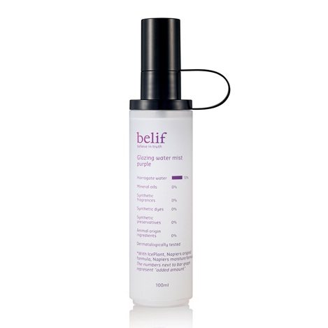 Belif Glazing Water Mist Purple 100ml korean cosmetic skincare product online shop malaysia indonesa singapore