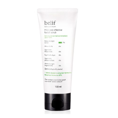 Belif Mild and Effective Facial Scrub 100ml korean cosmetic skincare cleanser product online shop malaysia brunei macau