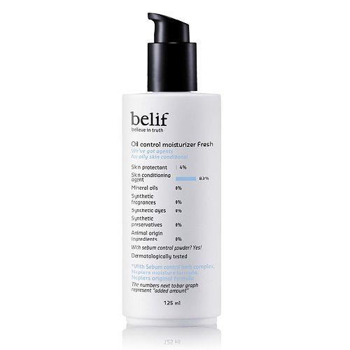 Belif Oil Control Moisturizer Fresh 125ml korean cosmetic skincare product online shop malaysia indonesa singapore