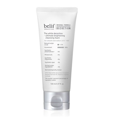 Belif The White Decoction Ultimate Brightening Cleansing Foam 100ml korean cosmetic skincare product online shop malaysia indonesa singapore