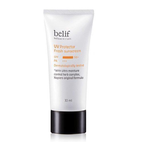 Belif UV Protector Fresh Sunscreen SPF 50+ PA+++ 30ml Korean cosmetic makeup product online shop malaysia hong kong canada