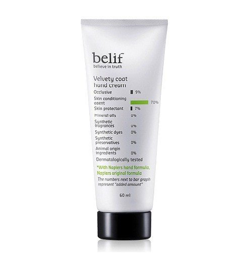 Belif Velvety Coat Hand Cream 60ml korean cosmetic body and hair product online shop malaysia vietnam singapore