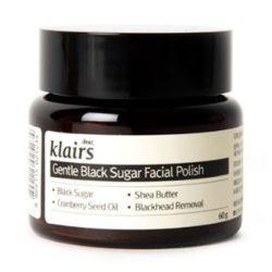 Klairs Gentle Black Sugar Facial Polish 60ml korean cosmetic skincare cleanser product  online shop malaysia  japan taiwan