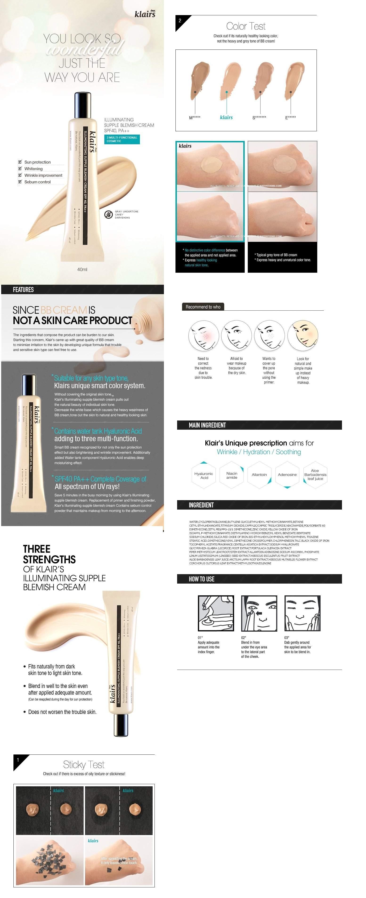 Klairs Illuminating Supple Blemish Cream - BB Cream 40ml