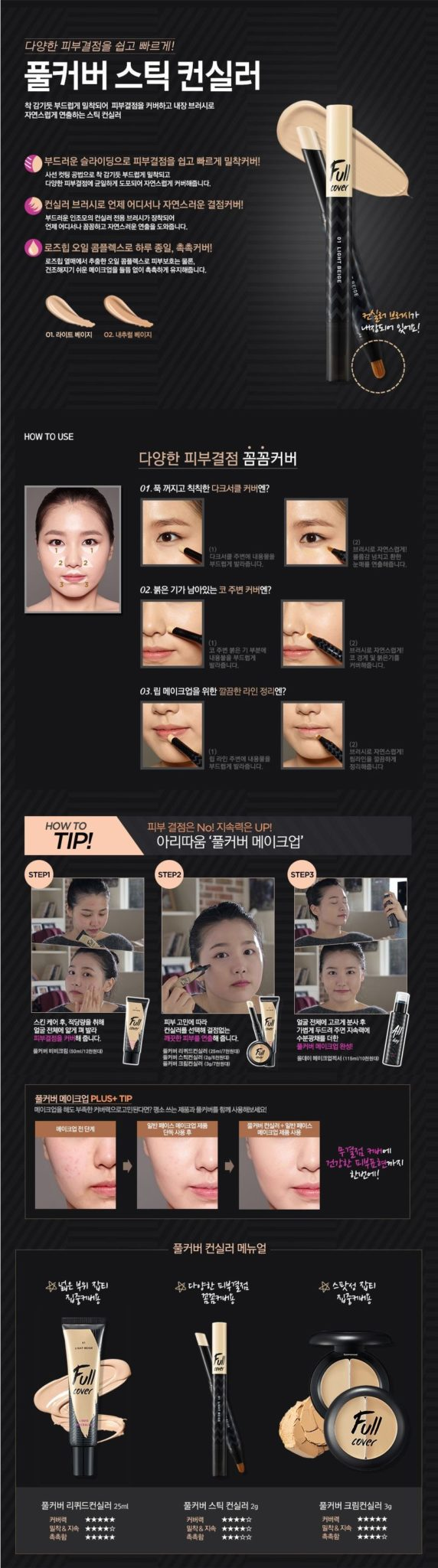 ARITAUM Full Cover Stick Concealer 2g
