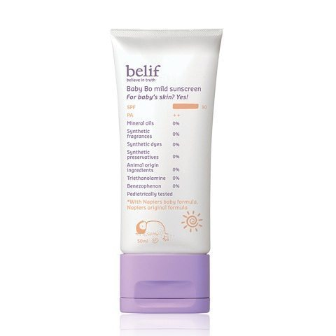 Belif Baby Bo Mild Sunscreen SPF 30 PA++ 50ml  korean cosmetic baby skincare product  online shop malaysia  cambodia spain