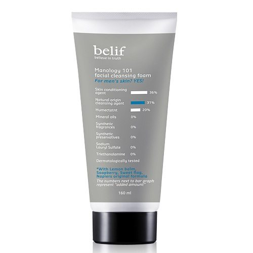 Belif Manology 101 Facial Cleansing Foam 160ml korean cosmetic men skincare product online shop malaysia portugal italy