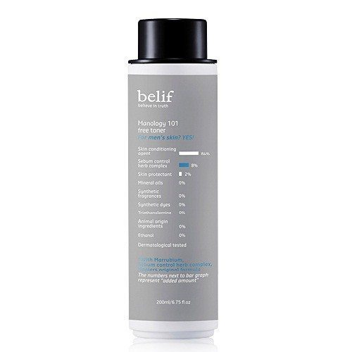 Belif Manology 101 Free Toner 200ml korean cosmetic men skincare product online shop malaysia portugal italy