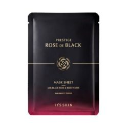 Its Skin PRESTIGE Rose De Black Mask Sheet 23ml korean cosmetic skincare shop malaysia singapore indonesia