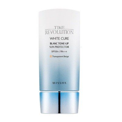 Missha Time Revolution White Cure Blanc Tone Up Sun Protector SPF50+ PA+++ 50ml korean cosmetic skincare product online shop malaysia greenland sweden