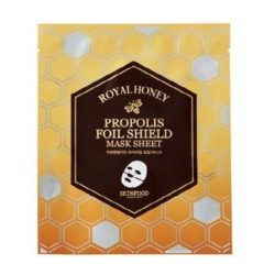 Skinfood Royal Honey Propolis Foil Shield Mask Sheet 25g x 4 korean cosmetic skincare product online shop malaysia china india