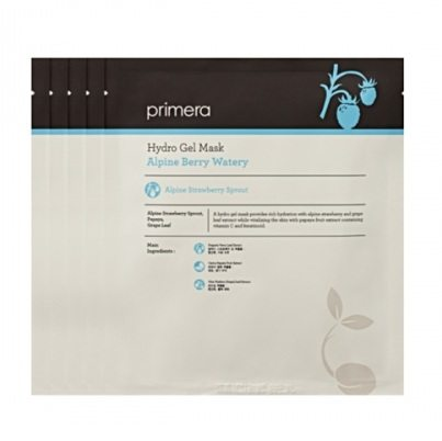 primera Alpine Berry Watery Hydro Gel Mask 20ml x 5 korean cosmetic skincare product online shop malaysia macau china
