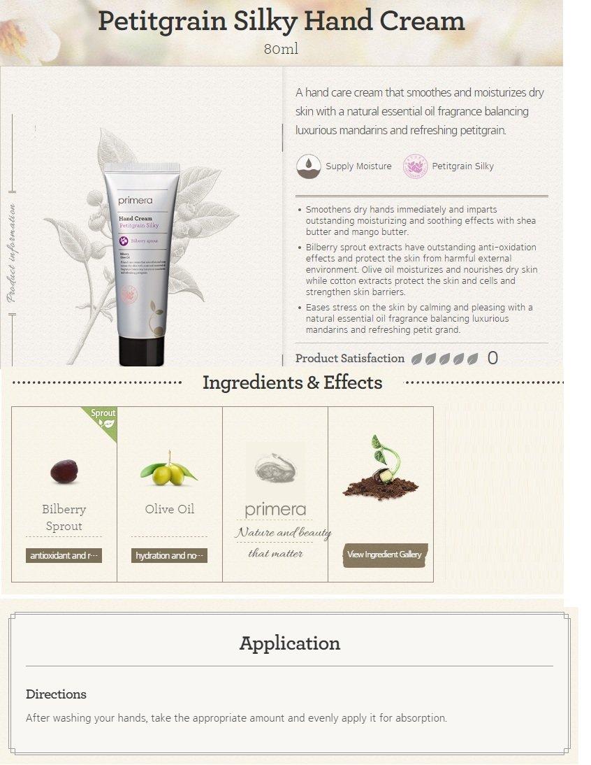 primera Petitgrain Silky Hand Cream 80ml
