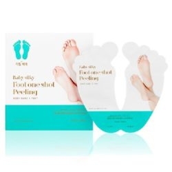 Holika Holika Baby Silky Foot One Shot Peeling korean cosmetic skincare product online shopmaaysia india taiwan