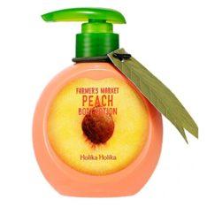 Holika Holika Farmers Market Peach Body Lotion korean cosmetic body hair product online shop malaysia sweden germany