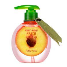 Holika Holika Farmers Market Peach Shower Gel korean cosmetic body hair product online shop malaysia sweden germany