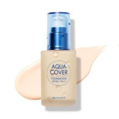 Missha Aqua Cover Foundation SPF20 PA++ 30ml korean cosmetic skincare shop malaysia singapore indonesia