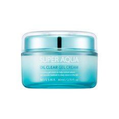 Missha Super Aqua Oil Clear Gel Cream 80ml korean cosmetic skincare shop malaysia singapore indonesia