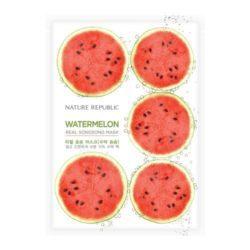 Nature Republic Watermelon Real Songsong Mask 20ml korean cosmetic skincare shop malaysia singapore indonesia