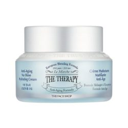The Face Shop The Therapy Anti Aging No Shine Hydrating Cream 50g korean cosmetic skincare shop malaysia singapore indonesia