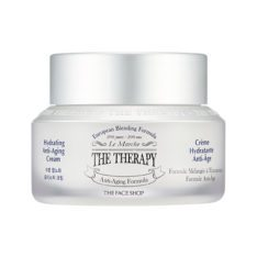 The Face Shop The Therapy Hydrating Anti Aging Cream 50ml korean cosmetic skincare shop malaysia singapore indonesia