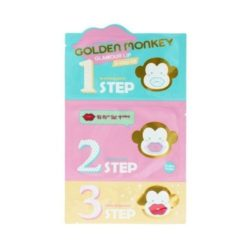 Holika Holika Golden Monkey Glamour Lip 3 Step Kit  korean cosmetic skincare product online shop malaysia  ireland peru