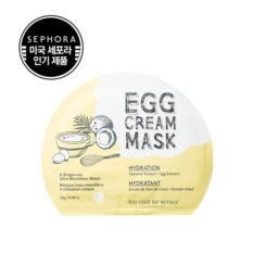 too cool for school Egg Cream Mask Set Hydration 5pcs 140g korean cosmetic skincare shop malaysia singapore indonesia