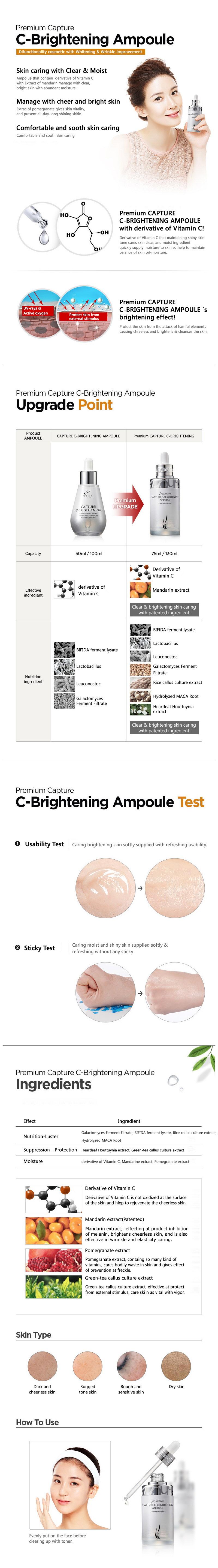 AHC Premium Capture C Brightening Ampoule 130ml malaysia singapore brunei