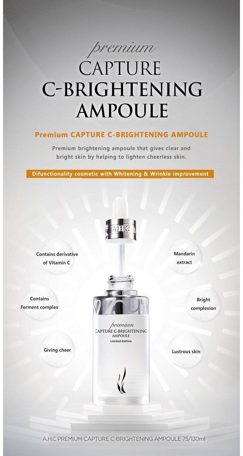 AHC Premium Capture C Brightening Ampoule 130ml malaysia singapore indonesia