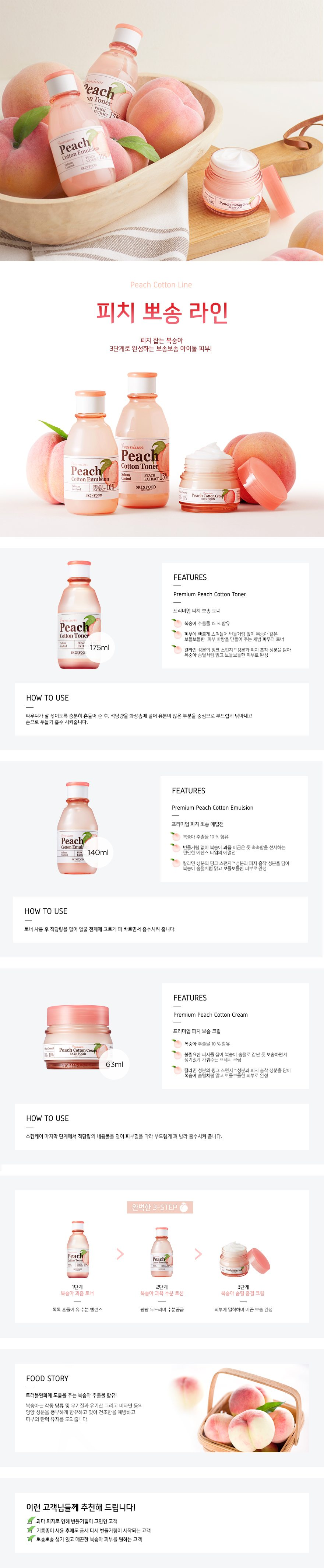 Skinfood Premium Peach Cotton Emulsion – Korean beauty product ...