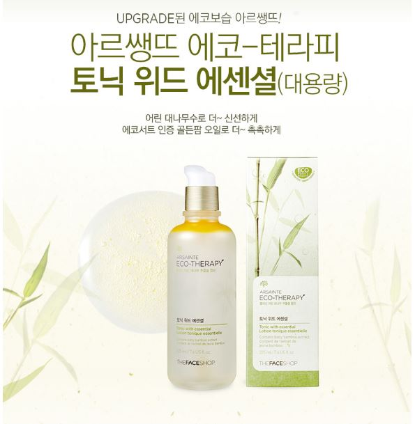 The Face Shop Arsainte Eco Theraphy Tonic With Essential Price Malaysia Singapore China Japan1