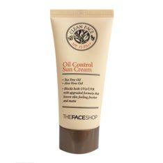 The Face Shop Clean Face Oil Control Sun Cream SPF35 PA++ price malaysia thailand singapore