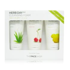 The Face Shop Herb Day 365 Cleansing Foam Special Set price malaysia Singapore brunei