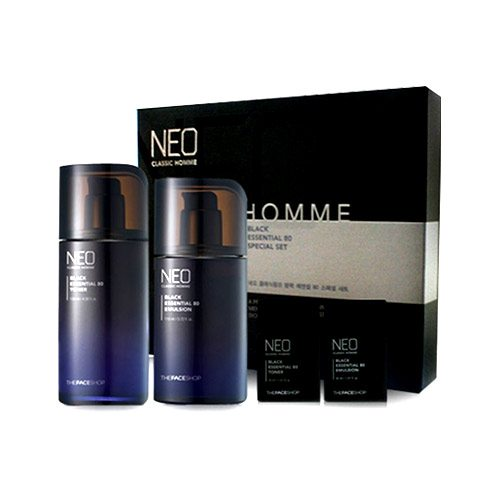 The Face Shop Neo Classic Homme Black Essential 80 Skincare Set malaysia singapore indonesia