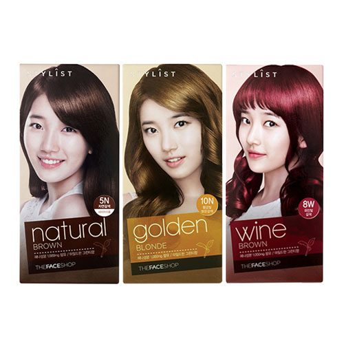 The Face Shop Stylist Silky Hair Color Cream 60ml + 60ml + 10ml [8 Options]