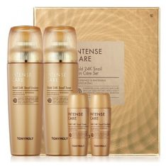 Tony Moly Intense Care Gold 24K Snail 2 Set korean cosmetic skincare product online shop malaysia italy germany