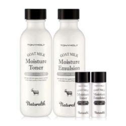 Tony Moly Naturalth Goat Milk Moisture Skin Care Set korean cosmetic skincare product online shop malaysia italy germany