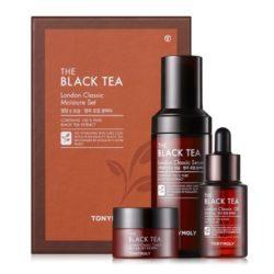 Tony Moly The Black Tea London Classic Moisture Set korean cosmetic skincare product online shop malaysia italy germany