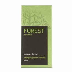 Innisfree Forest For Men Skin Pad [Clear Cotton] 45pcs korean cosmetic skincare shop malaysia singapore indonesia