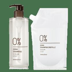 Innisfree Zero Shampoo Special Set [For Oily Scalp] 400ml korean cosmetic skincare shop malaysia singapore indonesia