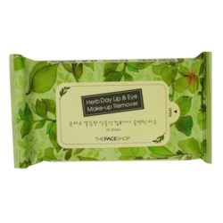 The Face Shop Herb Day Lip and Eye Makeup Remover 30 Sheets 150g korean cosmetic skincare shop malaysia singapore indonesia
