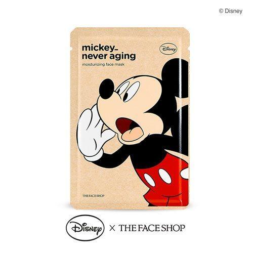The Face Shop Mickey Never Aging Moisturizing Mask 25g korean cosmetic skincare shop malaysia singapore indonesia