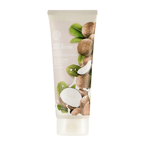 The Face Shop Milk and Shea Butter Rich Body Cream 200ml korean cosmetic skincare shop malaysia singapore indonesia