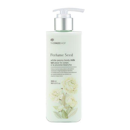 The Face Shop Perfume Seed White Peony Body Milk 300ml korean cosmetic skincare shop malaysia singapore indonesia