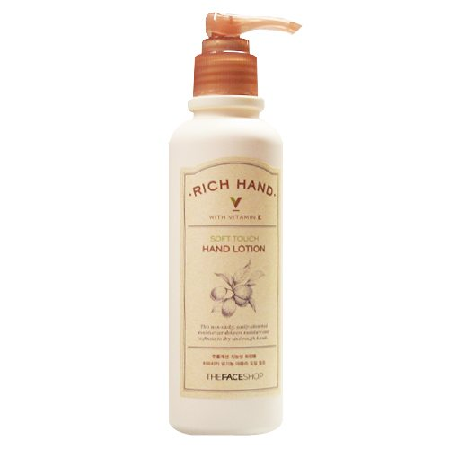 The Face Shop Rich Hand V Soft Touch Hand Lotion 200ml korean cosmetic skincare shop malaysia singapore indonesia