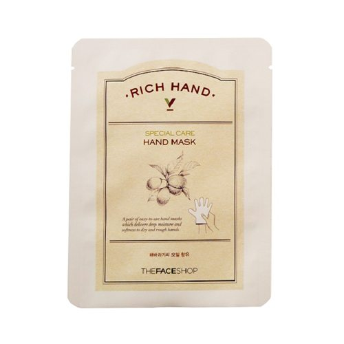 The Face Shop Rich Hand V Special Care Hand Mask 16g korean cosmetic skincare shop malaysia singapore indonesia