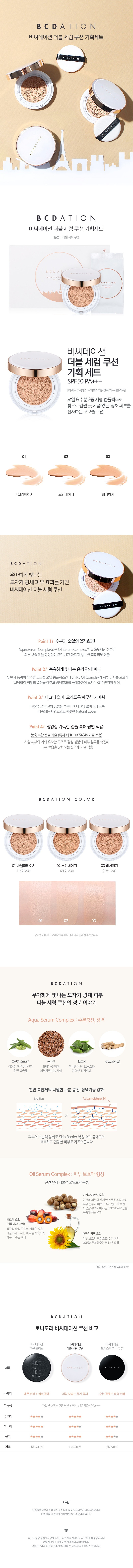 Tony Moly BCDation Double Serum Cushion Set refill korean cosmetic makeup product online shop malaysia spain portugal1