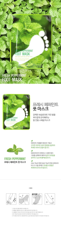 Tony Moly Fresh Peppermint Foot Mask korean cosmetic skincare product online shop malaysia nepal bhutan1