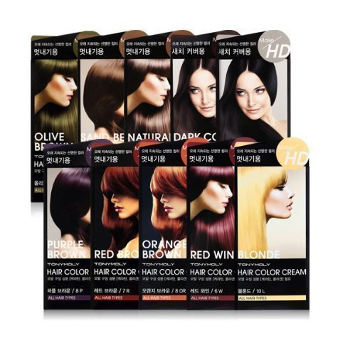 Tony Moly Make HD Hair Color Cream korean cosmetic skincare product online shop malaysia nepal bhutan